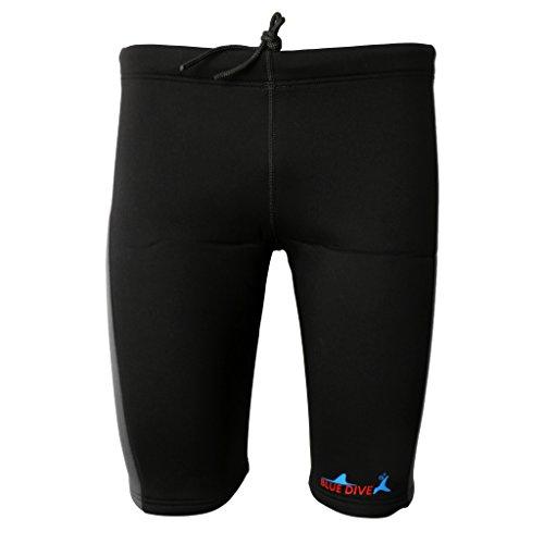 SM SunniMix 3 mm Pantalones Cortos de Neopreno Rafting Kayak Canoa Deporte - Gris y Negro, L
