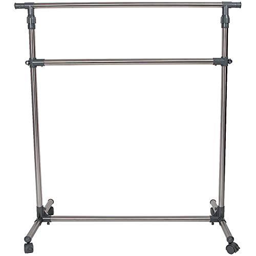 Intercon Kleiderständer Rollen Höhenverstellbar 113-198 cm - Garderobenständer sehr stabil