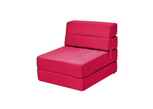 AGUSTO Sofá Cama Individual (Rojo)
