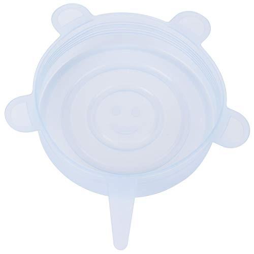 Juego de tapas elásticas de alta elasticidad, 6 tapas transparentes para tazones de comida, mantienen los alimentos sellados para la conservación de alimentos
