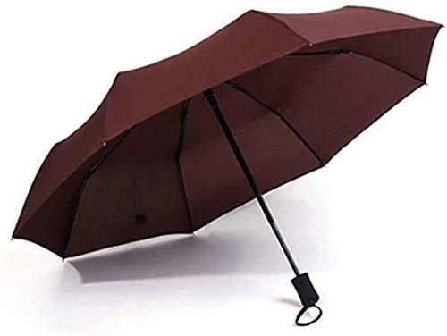 Regenschirm Dreifach Wasserdicht Kleine Robuste Winddichte Tragbare Leichte Reise Regenschirm Faltsonne Automatische Markise-kaffee Regenschirm Sturmsicher Lightweight Wunderschönen Rutschsicherem
