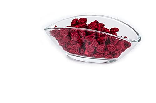 100 Rosen - 15mm - Deko Rosen Röschen - Satinrosen | Bordeaux Rot
