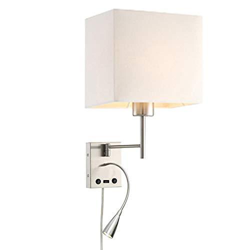HomeFocus USB LED Swing Arm Bedside...