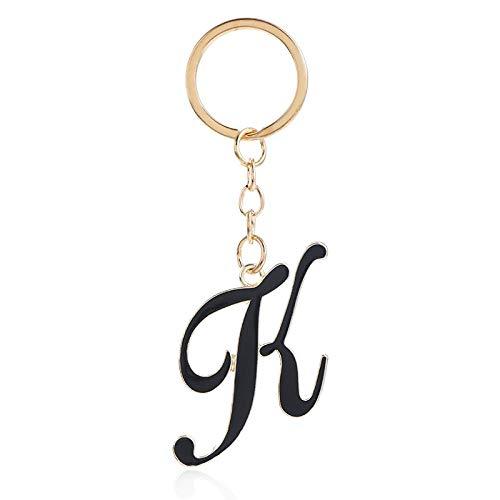Keychain Alloy Personality Keychain 26 Letter Keychain Plating Exclusive Keychain-K