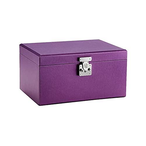 WHZG Caja joyero Caja de joyería Cuadrada de Cuero Organizador portátil con Mini joyería de Viaje para niñas Festival Party Jewelry Organizer Organizador Joyas