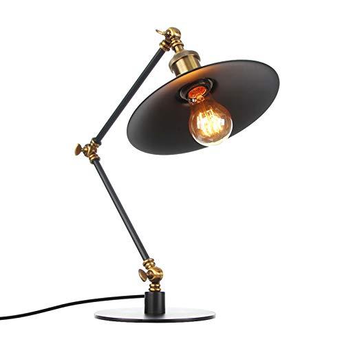 Lámpara de escritorio LED portalámparas de tornillo E27 lámpara de arquitecto de brazo oscilante, luz de escritorio de noche clásica para el regreso a la escuela, lectura, trabajo