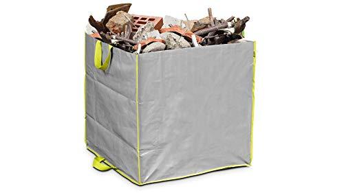 Lesto Vegetales (400L–Saco para escombros y residuos de jardín, Gris