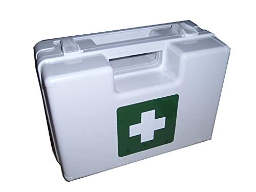 LEINAWERKE 21020 - Maletín de primeros auxilios sin impresión, color blanco, sin contenido, 1 unidad