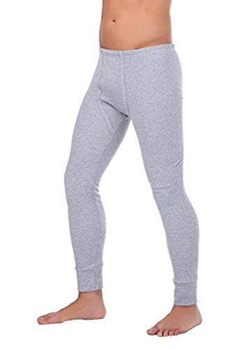 BestSale247 - Calzoncillos térmicos largos para hombre, ropa interior de esquí térmica, de algodón gris XL
