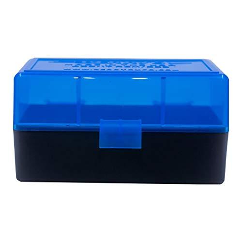 X-Targets Patronen Aufbewahrungsbox aus Kunststoff mit Deckel / .223 Remington / 50 Schuss (Blau)