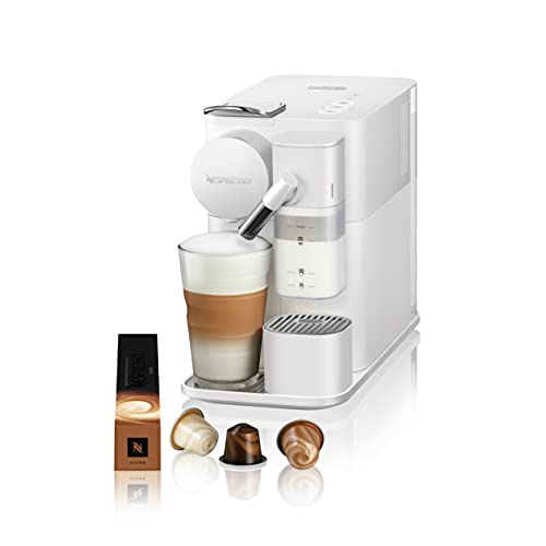 De'Longhi Nespresso Lattissima One, Capsule Coffee Machine, EN5010W, White, New Milk System for Perfect Milk-Based Coffee Beverages and to Avoid Milk Waste