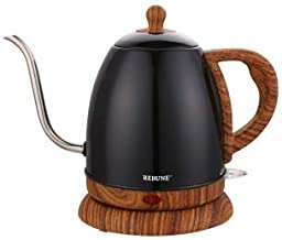 Electric Kettle 1L Capacity, Black Color for Specialty Coffee Preparation