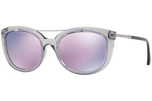 Versace VE4336 zonnebril kristal grijs met gespiegelde glazen roze 52545R VE 4336