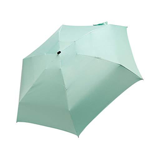 FeiliandaJJ Taschenschirm Mini Leicht Automatik Sonnenschirm Regenschirm Windsicher Sturmfest Anti UV Multifunktional Faltender Stockschirm Weihnachten Geburtstag Geschenk (Grün)