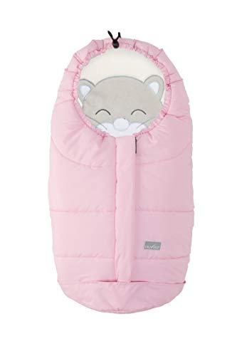 Nuvita Caldobimbo Cuccioli sacco termico invernale per ovetto e carrozzina (rosa) 0-6 mesi universale caldo bimbo