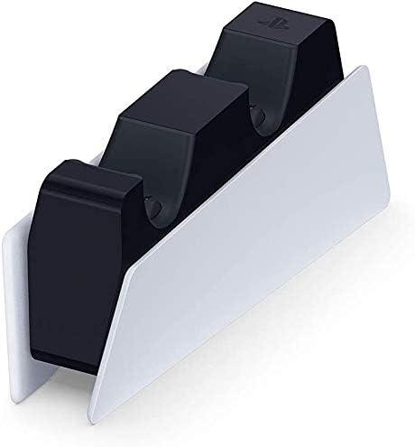 Sony Station de chargement DualSense PS5, Chargeur de Manette PlayStation 5 Officielle, Couleur: Bicolore (blanc et ...