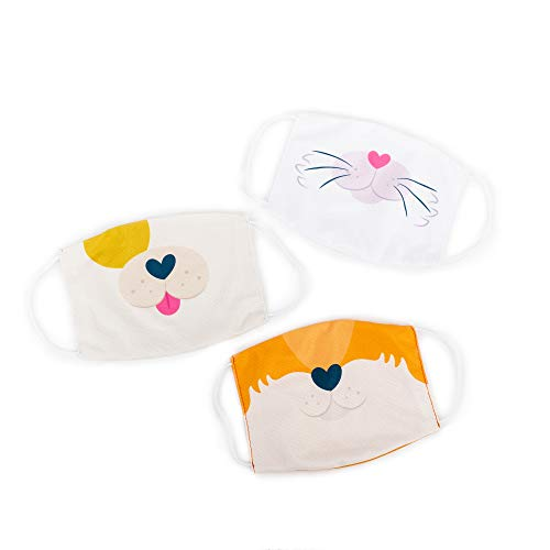 Educational Insights Kids? Face Masks 3-Pack: Puppy/Kitty/Fox Set, Super-Soft & Breathable Masks for Kids, 3+