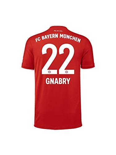 FC Bayern München Kinder Home-Trikot Saison 2020/21, Gr. 176, Serge Gnabry