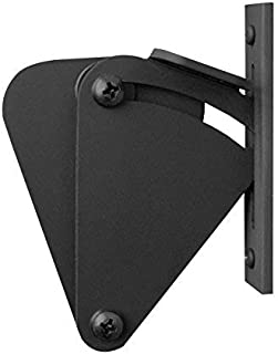 MJC & Company - Sliding Barn Door Latch Lock | Adds Privacy to Sliding and Hanging Track Systems | The Finishing Touch to Your Existing Barn Door Hardware (Large Tear Drop | Black Powder Coat)