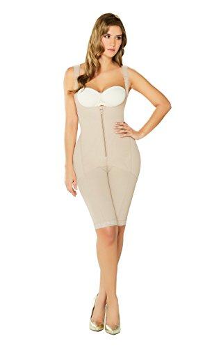 DIANE & GEORDI 2397 Fajas Colombianas Reductoras y Moldeadoras Post Surgery Liposuction Compression Garments Full Body Shaper for Women Beige L