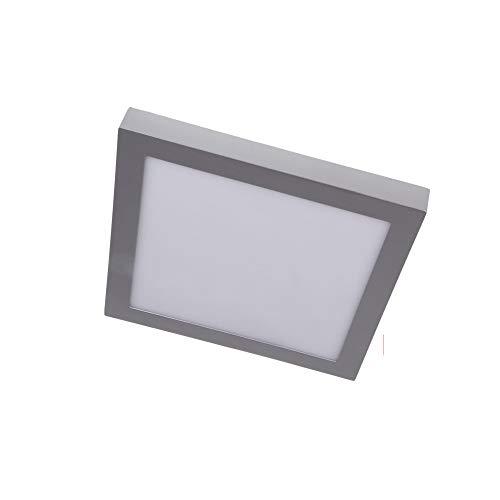 LED Downlight superficie cuadrado plata 12W Blanco frio 6000K 1020lm 220V-240v Alta calidad
