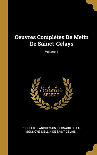 FRE-OEUVRES COMPLETES DE MELIN