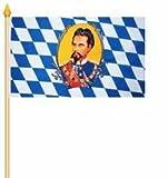 Stockfahne Bayern König Ludwig Fahne Flagge Grösse 30x40cm