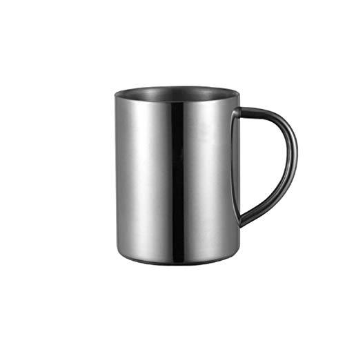 ZZLLFF Taza de café de Acero Inoxidable de Doble Pared con Tapa portátil Taza de Viaje Tumbler Café Jarra de jarras Tazas de té de Leche Tazas de Agua de la Oficina Doble (Color : 400ml Without Lid)