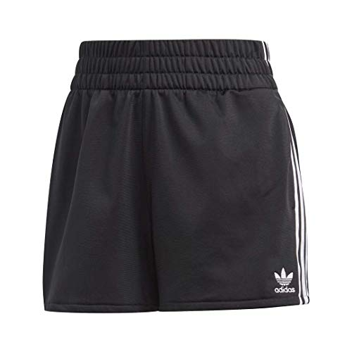 adidas Originals womens 3-Stripes Shorts Black/White Large