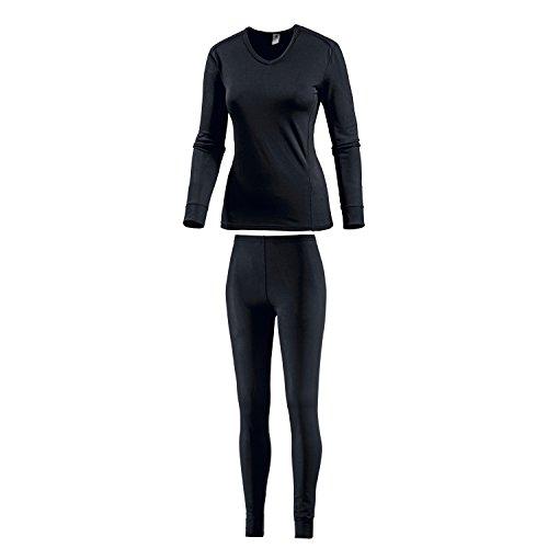 Medico Ensemble de sous-vêtements thermiques pour femme Sous-vêtements fonctionnels Sous-vêtements de ski Noir 40/42