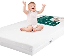 BABELIO Premium Memory Foam Crib Mattresses, 2-Stage, Cool Gel, with Waterproof Lining & Removable Mattress Cover, for Standard Crib & Toddler Bed