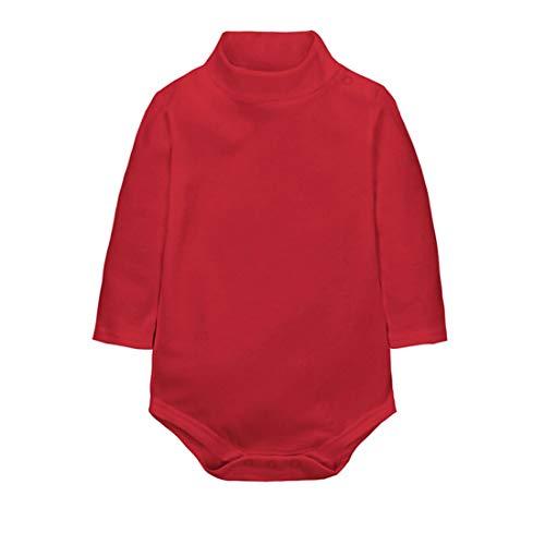 CuteOn Bodies para Bebés Niño Niña Cuello Algodón Bodysuit Bebe - Rojo 2 años