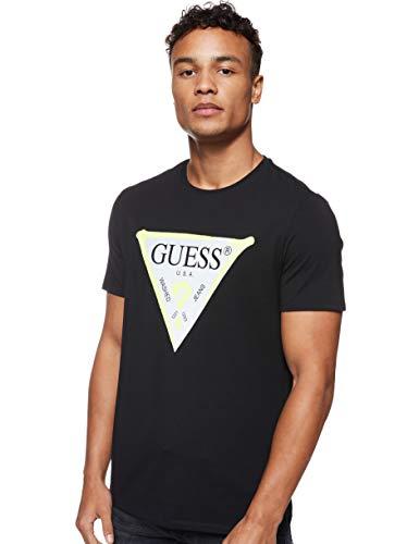 Guess Cn SS Sprayer tee Camiseta, Negro, XXL para Hombre