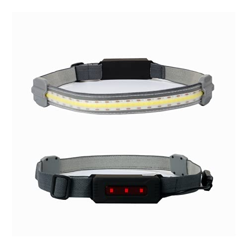 TAIYANYU 220°Wide Beam LED Headlamp-COB Bright Headlight Battery Powered Head Lamp,Headlamp Flashlight,Rechargeable-IPX4 Water Resistant,Lightweight for Running and Camping (A: Battery)