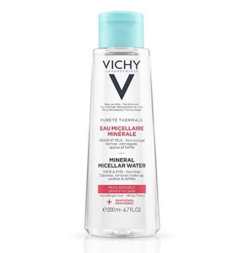 Vichy Pureté Thermale - Agua mineral micelar para pieles sensibles, 200 ml