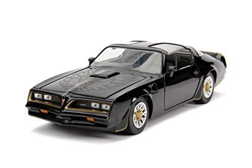 Jada Toys 253203041 Fast & Furious Tego's 1977 Pontiac Firebird - Coche Tuning a Escala 1:24 con Apertura de Puertas, capó y Maletero, Rueda Libre, Color Negro