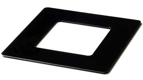kekef Acrylglas Dekorrahmen hochglanz schwarz 1fach 2fach 3fach 4fach Tapetenschutz Wandschutz für Lichtschalter und Steckdosen (schwarz 1-fach)