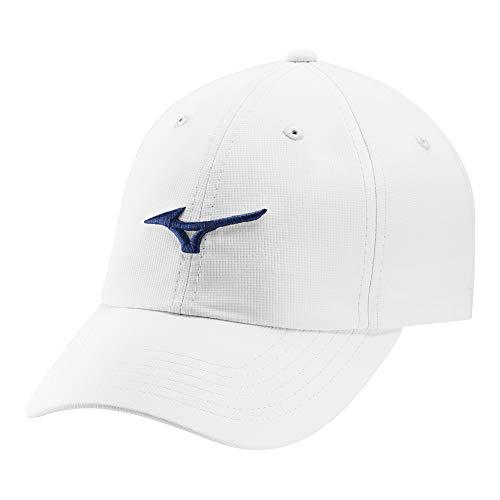 Mizuno Tour Adjustable LW Golf Hat, WHITE-COBALT, WHITE-COBALT