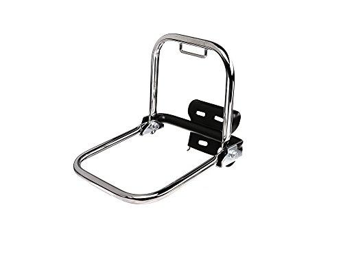 FEZ Gepäckträger hinten chrom (kurzer Stützbügel + Schutzblechhalter) - für Simson S50, S51, S70