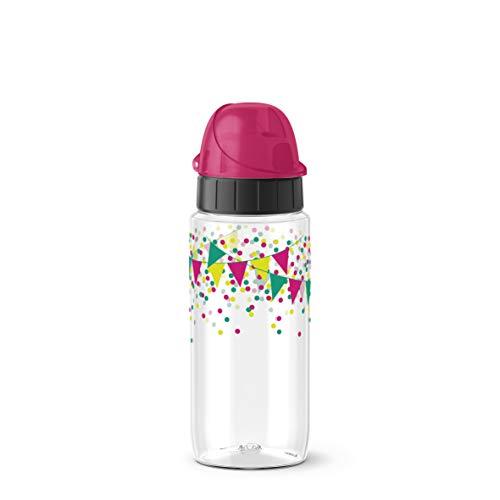 Emsa Drink2Go Tritan F3030600 Trinkflasche, 0,5 Liter, AutoClose Verschluss, Party