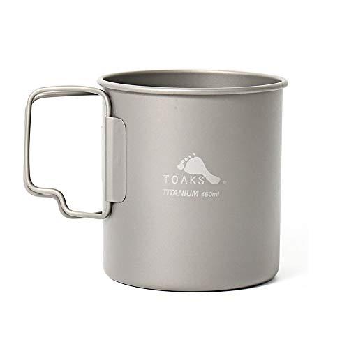 TOAKS Becher aus Titan, Camping-Geschirr (375 ml, 450 ml, 550 ml, 650 ml, 750 ml, 1100 ml), 450ml(without lid)