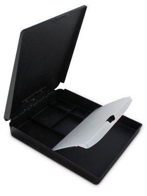 Saunders DeskMate Klemmbrett 250x315 mm, unten öffnend mit Innenfach schwarz, Farbe: schwarz