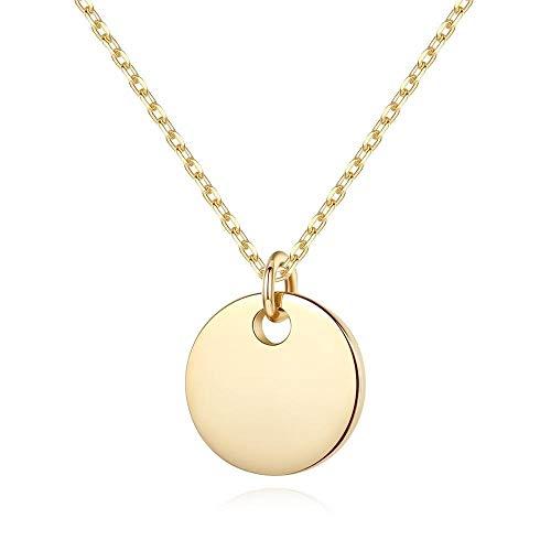 925 Sterling Silber Halskette,Festplatte Form Anhänger Halsketten, Frauen Mädchen Gold Farbe, Personifizierte Hochzeit Charm Anhänger Schmuck Personalisierte, Elegante Gute Qualität Der Damen Mut
