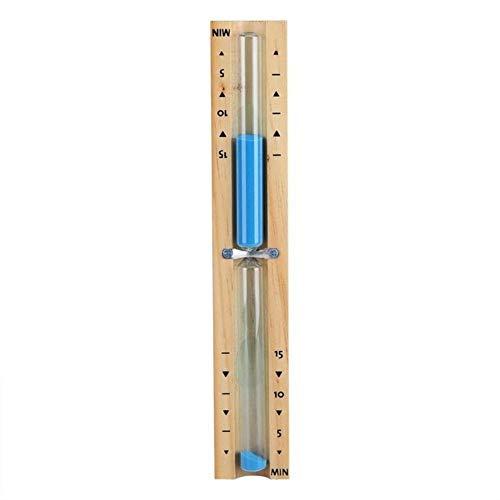 Qingsb 15 minuten timer sauna zandloper wand roterende zandloper countdown klok, blauw
