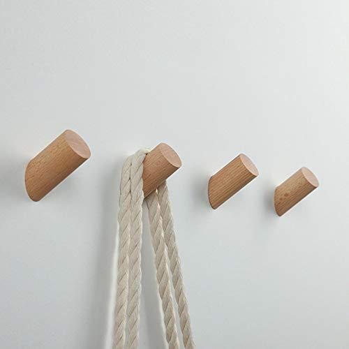 EAHOME Perchero de Madera, 5 Unidades de Perchas de Almacenamiento para Colgar en la Pared para Colgar Ropa o Bufanda, decoración de Dormitorio, 30 mm de diámetro