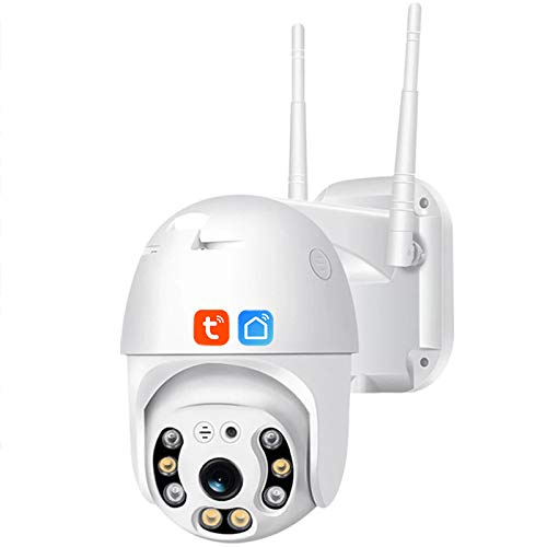 Tuya Smart Life Cámara WIFI PTZ, Cámara IP De Seguridad Con Seguimiento Automático Al Aire Libre 1080P, Visión Nocturna, Almacenamiento En La Nube, Vigilancia CCTV, Funciona Con Alexa, Google Home