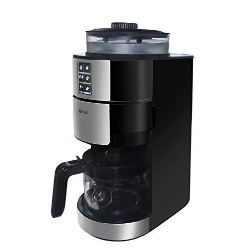 Kaffeemaschine mit Mahlwerk, mahlen und brühen, DEEYA frisch brühen Kaffeemaschine, geräuschlose Kaffeemaschine maximal 6 Tassen, Filter-Kaffeemaschine mit Kanne, schwarz