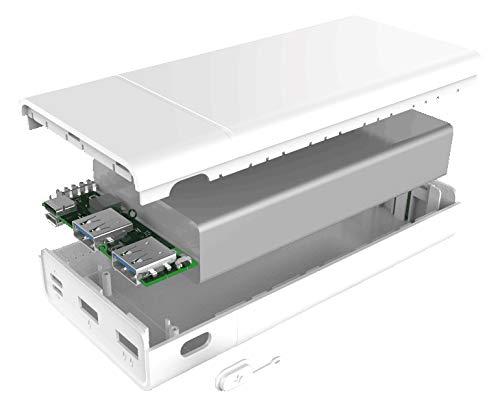 BLUEDOTモバイルバッテリーBMB-PD201(20000mAh/USBPD/QC3.0/最大18W出力/USBType-C×1/USBType-A×2/残量表示LED)(白)