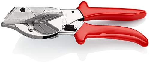 KNIPEX 94 35 215 Gehrungsschere für Kunststoff- und Gummiprofile mit Kunststoff-Hüllen 215 mm