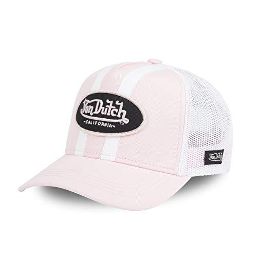 Von Dutch - Gorra de béisbol para hombre, color rosa y blanco rosa Talla única